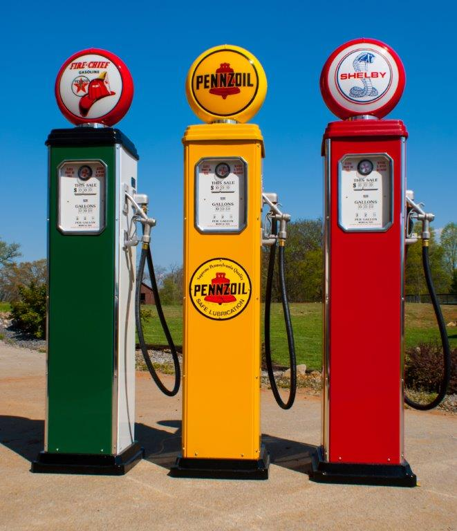3 Retro Gas Pumps