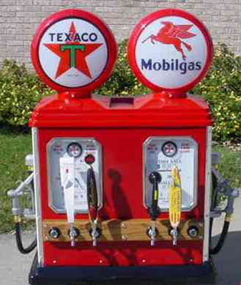 Rare Double Gas Pump