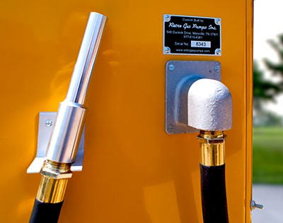 Visible Gas Pump Nozzle