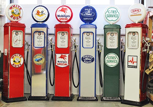 3 Custom Designed Gas Pumps